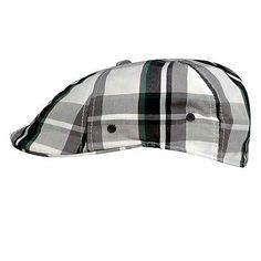 Kangol Men's Flat Cap Plaid 504 Cotton Chess Plaid Hat Beret Beanie Size L Kangol Caps, College Hats, Fashion Graphic Design, Flat Cap, Beret, Caps Hats, Beanie, Chess, Plaid