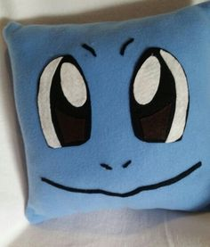 Squirtle pokemon throw pillow