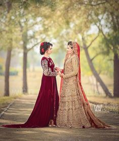 Image may contain: one or more people and outdoor Pakistani Bridal, Pakistani Dresses, Sisters Goals, Bridal Photography, Asian Style, Aurora Sleeping Beauty, Velvet, Disney Princess, Wedding Dresses