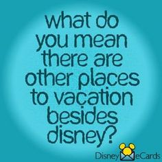 With Disney World, Disneyland, Aulani Resort in Hawaii, many Disney Cruises and Adventures by Disney...who needs other vacations :)