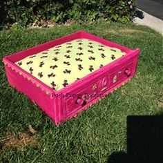Vintage Pink Dresser Drawer Upcycled Bed- Eco-Friendly - Bedding Posh Puppy Boutique