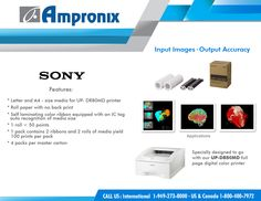 With the growing trend in full page color report printing, the stylish, compact and ultra-fast UP-DR80MD is the ideal printer of choice. Sony UP-DR80MD Digital Color Printer produces excellent image quality and output accuracy essential for today's operating rooms. Get it today by calling 800.400.7972 or visit our website at www.ampronix.coml