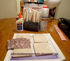 Pieces of Me Scrapbooking & Paper Crafts: Tutorial: DIY Ceramic Tile Coasters
