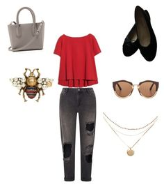 """""""Red casual ❤️"""" by carorj6708 on Polyvore featuring Miss Selfridge, Max&Co., Chanel, Marni y Gucci"""