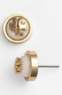 Tory Burch 'Melodie' Logo Stud Earrings