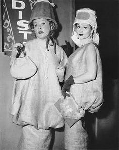 """I Love Lucy"" the episode with their burlap designer dresses!"