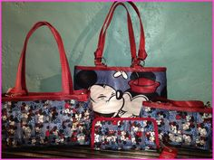Mickey Mouse And Minnie Mouse Harveys Seatbelt Bag Collection