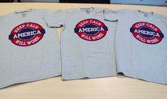 Keep Calm America Grey T-shirts