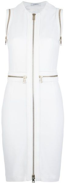 GIVENCHY PARIS Zip Detailed Dress - Lyst