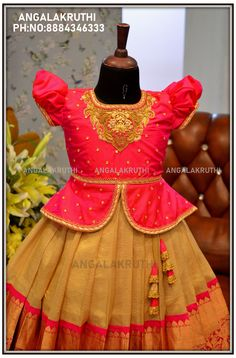 Baby Girl Lehenga, Kids Lehenga, Indian Dresses For Kids, Dresses Kids Girl, Kids Dress Wear, Kids Gown, Baby Girl Frocks, Frocks For Girls, Baby Frocks Designs