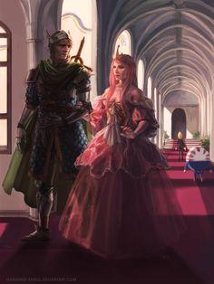 Queen Bubblegum and Her Knight by marianne-khalil.deviantart.com on @deviantART