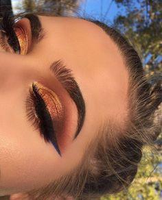 Idée Maquillage Braunorange - Make Up Ideen - Eye-Makeup Glam Makeup, Cute Makeup, Gorgeous Makeup, Pretty Makeup, Skin Makeup, Eyeshadow Makeup, Dramatic Eyeshadow, Glowy Skin, Makeup Art