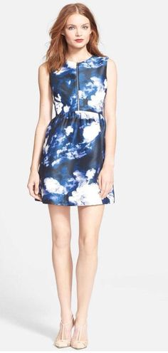 Kate Spade New York 'Joss' Cloud Print Dress