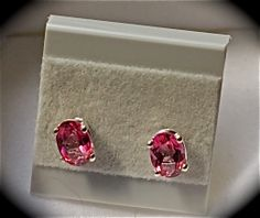 Pure Pink Mystic Topaz. Nickel Free Sterling Silver studs    $36.00