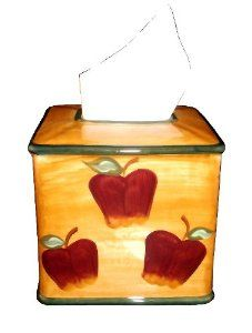 get well soon orange and blue cotton apple design apple print tissue case gifts for her apple gift Apple tissue holder cotton case