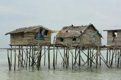 stilt huts