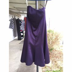 Strapless Bridesmaid Dress Perfect condition, only worn day of wedding. It is strapless and the length is right above the knee. I unfortunately don't have a very good picture of it on, and it doesn't fit me anymore! David's Bridal Dresses Strapless