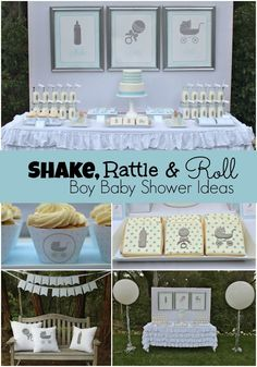 Shake, Rattle and Roll Boy Baby Shower - Spaceships and Laser Beams