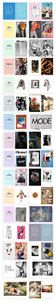 Magazine Art Direction We art directed the very special birthday issue of Please! Page Layout Design, Graphic Design Layouts, Sketch Design, Graphic Design Typography, Book Design, Cover Design, Branding Design, Editorial Layout, Editorial Design