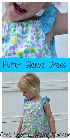 flutter sleeve peasant dress pattern