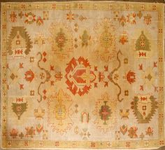 Oushak rug West Anatolia late 19th century size approximately 5ft. 10in. x 8ft. 8in.
