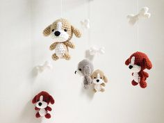 Puppy Amigurumi Baby Mobile Dog baby mobile by IvoryTreeHouse