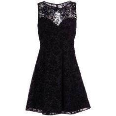 Alice+olivia Short Dress ($260) ❤ liked on Polyvore featuring dresses, black, flared mini dress, zipper dress, velvet mini dress, velvet dress and zip dress