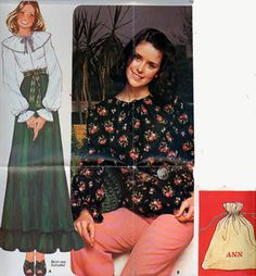 CLEARANCE SALE 1970s Boho Peasant Blouse w/ Seperate Cape Collar and Bag McCalls 4152 Vintage Sewing Pattern Alphabet Transfer Size 16 UNCUT by sandritocat on Etsy