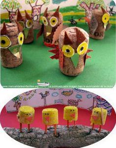 Animalitos con tapones de corcho | Manualidades Infantiles