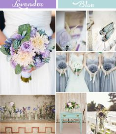 shabby chic light blue and lavender wedding color ideas #elegantweddinginvites