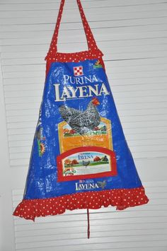 Feed bag apron  my MIL just brought me a bunch of feed bags