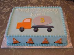 Dixie Cakes: Cement Truck Birthday