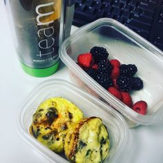 Whole 30 Breakfast Day 3. More egg muffins and fresh berries. And of course some @teamiblends #skinnytea! #whole30food #whole30 #januarywhole30 #breakupchallenge2016  #eggmuffins  #mealprep #breakfast #teamiblends #discountcodeROSE #paleo #cleaneating #itstartswithfood #paleolifestyle #lifestyleblogger #foodpics #teatox by crazywisewoman