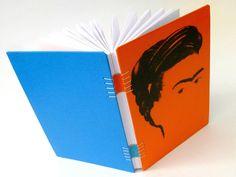canteiro de alfaces - livros artesanais: livros artesanais - Frida Kahlo