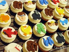 Brown Bear Brown Bear. Eric Carle cupcakes