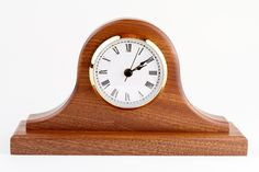 Building a Tambour Clock: Sapele wood tambour mantle clock made by Brian Gaines at Woodcraft, Colorado Springs