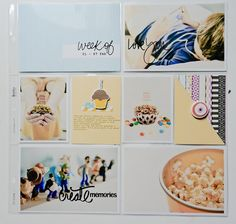 Project Life 2016 week 6 using cards by Dunia Designs and Soco scraps( All about me)