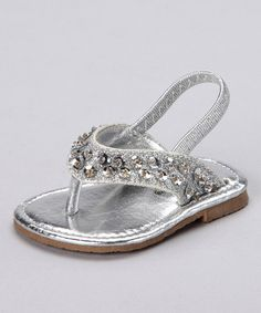 Take a look at this Silver T-Strap Sandal  by Xeyes on #zulily today!