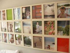 Otro cabecero con marcos de fotos