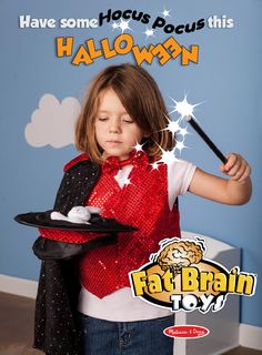 Make Halloween magic with this dress-up costume set with magic tricks included!