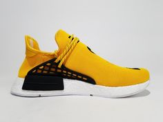 278148032aba3 Adidas NMD Human Race Pharrell Williams Yellow BB0619 Men Real Boost for  Sale  40-
