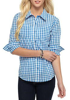 This playful button front top comes with long sleeves and a classic  checkered look. You can pair this with her favorite jeans for a comfortable  and ...