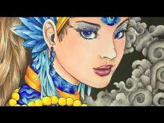 FANTASIA coloring book - prismacolor pencils - color tutorial part 2 - YouTube
