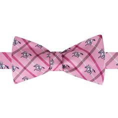 Men's Bow Tie Tuesday Novelty Self-Tie Bow Tie, Pink