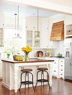 Cum să adăugați culoare și farmec unei bucătării monotone - Edifica