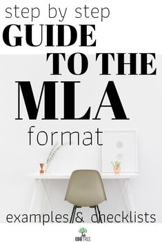 Works Cited MLA Format Guide with numerous color-coded examples and checklists.