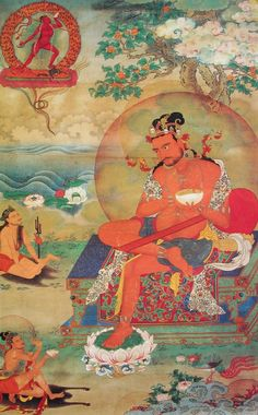 Glorious Mahasiddha Naropa with his precious Yidam Vajra Yogini, the Lady Buddha that conferred on him full enlightenment http://www.tsemrinpoche.com/tsem-tulku-rinpoche/vajra-yogini/6-yogas-of-naropa-by-h-h-kyabje-zong-rinpoche.html