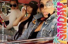 Welcome to Koko level's Blog | Koko level's: Kardashian sisters cruising around Los Angeles, Ca...