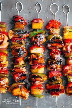 Hawaiian Chicken Bacon Pineapple Kebabs