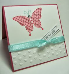 Stamping Up North: 3 x 3 Note Cards - Papillon Potpourri - Elegant Butterfly - Adorning Accents EF